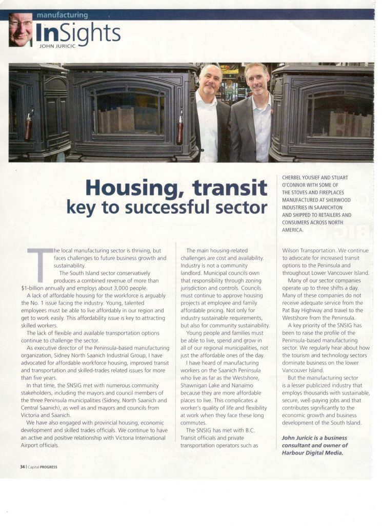 Mar. 2017 - Housing, transit key to successful sector